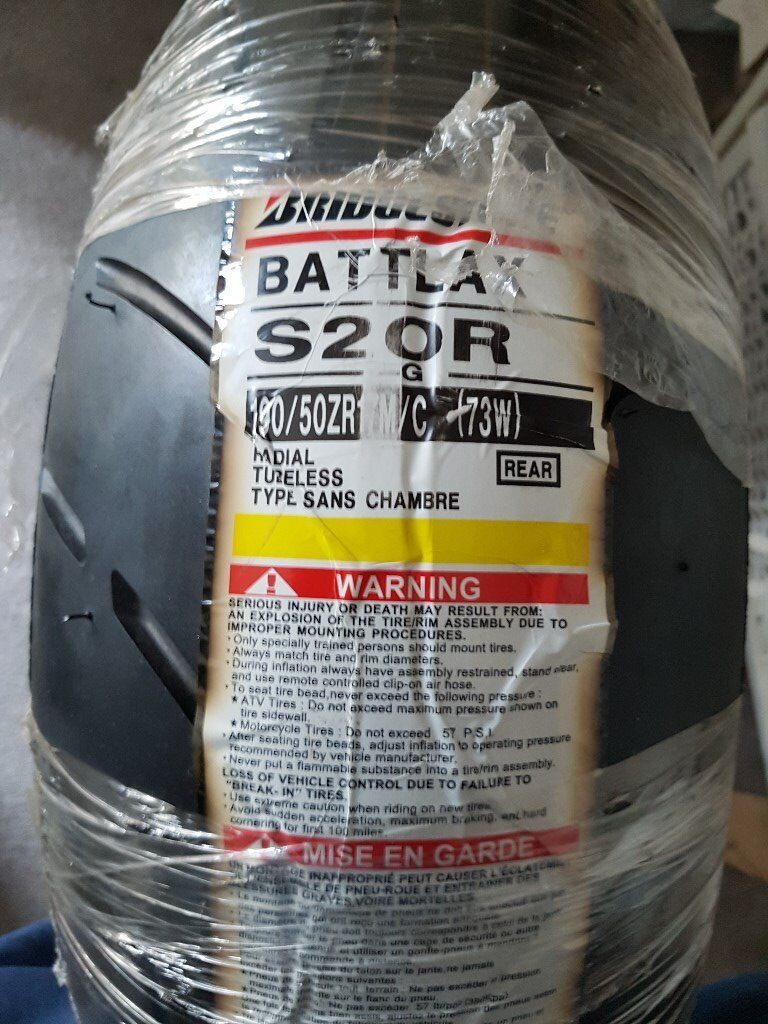 Bridgestone battleaxe s20r rear tyre