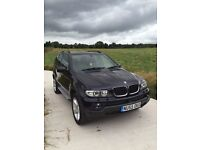 (55) BMW X5 3.0 DIESEL SPORT AUTO IN BLACK, FULL BLACK LEATHER,SAT NAV/DVD LONG MOT.