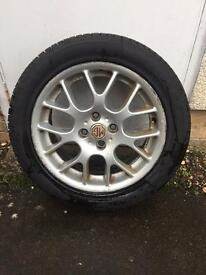 Wheel and tyre for MG rover