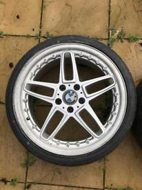 """BMW AC Schnitzer Alloys 4 x 19"""" with brand new tyres"""