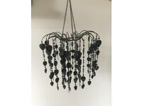Black Chandelier Light shade Lamp shade- Pendant- London West Hampstead