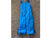 M&S dungaree style snow trousers, as new age 7-8 £10