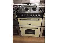 Black/Cream 60cm electric cooker