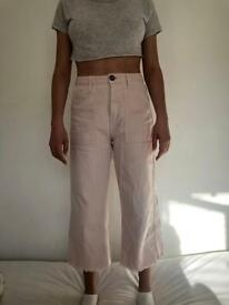 URBAN OUTFITTERS BABY PINK MUM JEANS/CALLOUTS