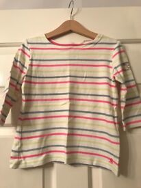 Joules girls top age 5-6