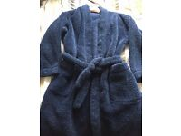 BOYS M & S SOFT FEEL DRESSING GOWN - AGE 9/10 YEARS