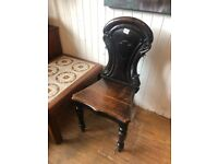 Wooden chair - lovely carved detail .