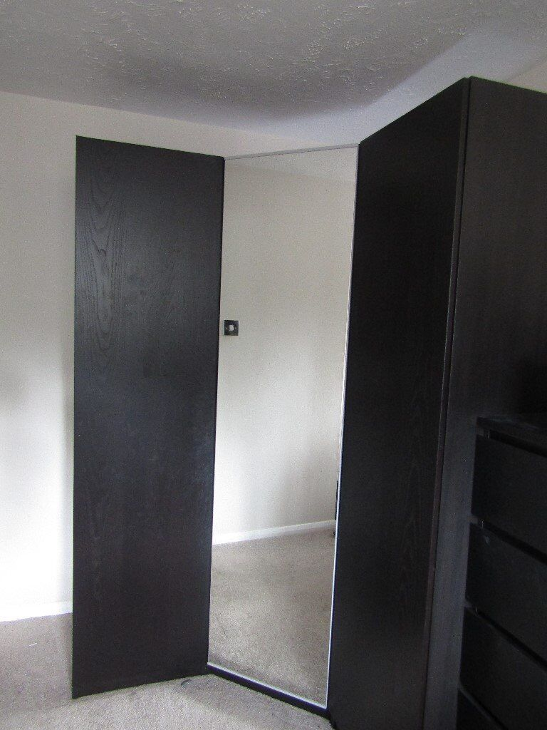 corner wardrobe ikea pax range in wandsworth london. Black Bedroom Furniture Sets. Home Design Ideas