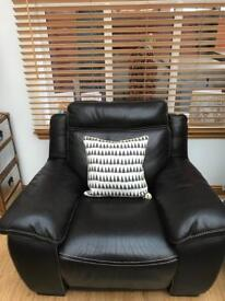 Italian leather recliner chair