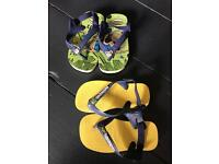 Boys havianas sandals flip flops summer shoes x 2 - size 22
