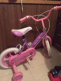 Pink Toddler bike. Butterfly 12 inch bike £10