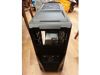 Large Tower gaming type computer case with PSU