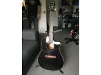 Fender T-bucket 300CE electroacoustic guitar in Transparent Black