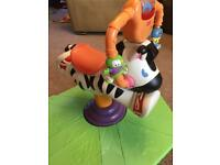 Fisher Price bounce and spin Zebra.