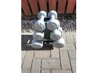 Dumbbells on stand