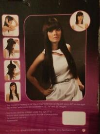 Flip-in hair human hair extension, new-never worn!