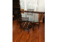Cast Iron Table and dining chairs
