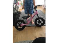 Kiddimoto pink balance bike