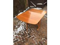 VINTAGE TEAK DINING TABLE OVAL, GATELEG. MID CENTURY.