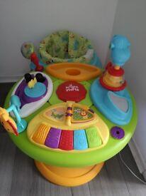 Baby activity walker table