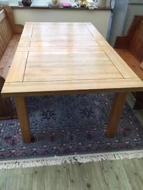 Solid wood mid oak table and Pew