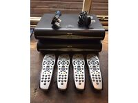 2x SKY+ HD BOXES & 4x REMOTES 500GB 1x DRX890 & 1x DRX890W EXCELLENT CONDITION