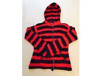 Unique Red & Black Striped Alternative Hoody