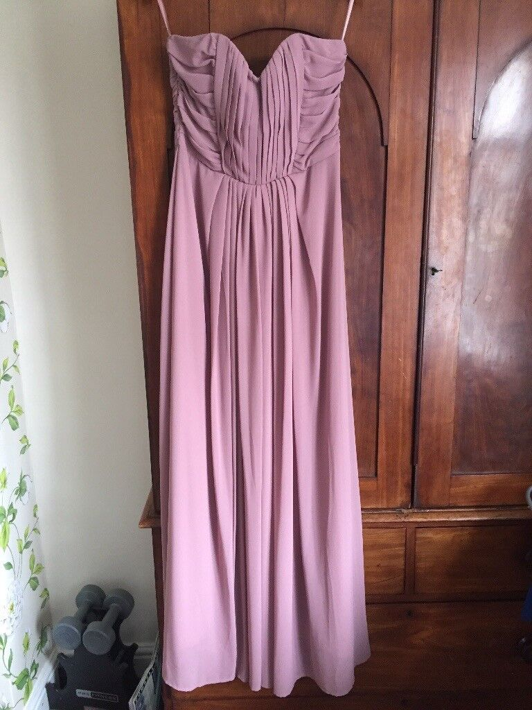 Never worn H&M dusky pink strapless maxi dress beautiful | in Leigh ...