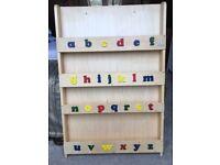 Alphabet book shelf