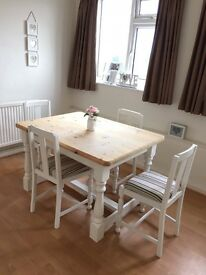 Shabby chic style table and chairs