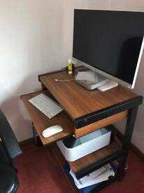 Mobile Computer table and chair