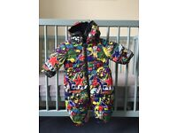 STELLA MACARTNEY KIDS SNOWSUIT. 0-3 months baby snowsuit