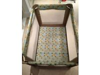 Portable foldable travel crib by Graco