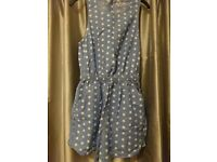 Polka dot Soulcal playsuit - size small