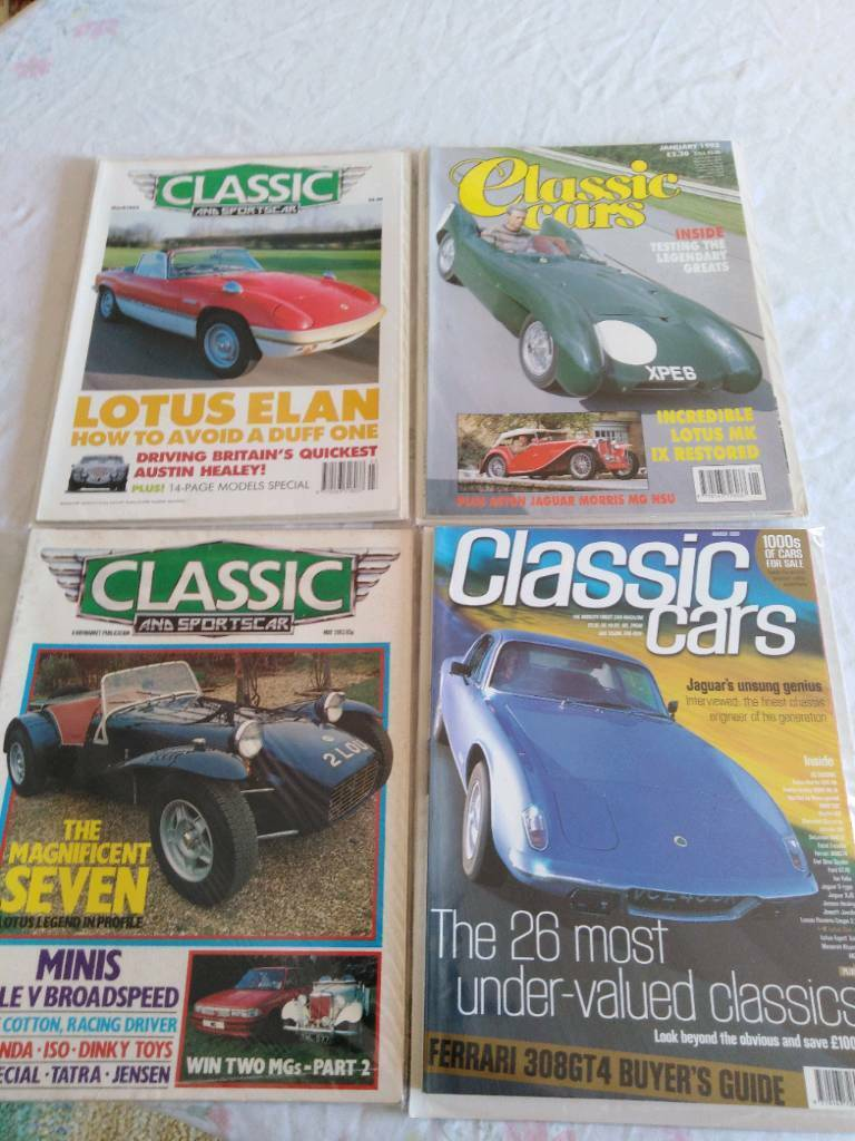 Classic Car Magazines Featuring Lotus Cars In Redditch Worcestershire Gumtree