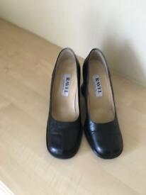 Ladies black leather shoes