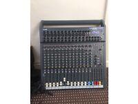 soundcraft spirit folio-sx 12 channel mixer-direct outputs