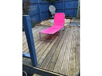 Vintage Style Sun Lounger/Recliner