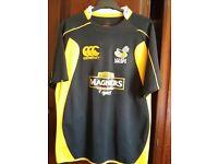 Mens XL original Rugby shirt/top Magners motifs
