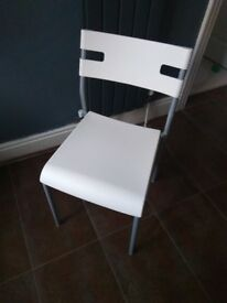 Ikea white chair - barely used