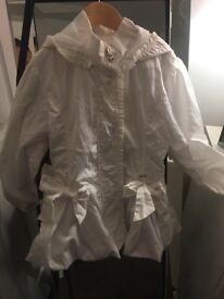 Arianna Dee white jacket age 8