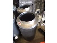 "Used Rhino Pro Carbon Filter 10"" Inch 250mm 600mm Hydroponics Premium Filter"