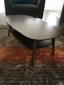 Skandi walnut veneer solid wood coffee table