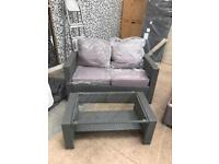 **BRAND NEW** Rattan 2 Seater & Coffee Table