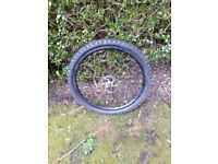 Mountain bike wheel 26inhwith tyre and disc