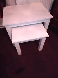 White nest of tables ,