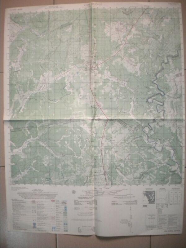 ONG THANH Vietnam map Chon Thanh Black Lions 28th INF 6331 IV