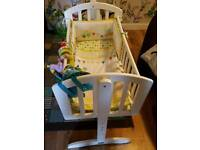 Baby crib for sale. Includes bedding