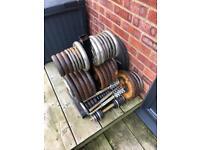 300kg Metal Weight Lifting Plates, Dumbells, Bars