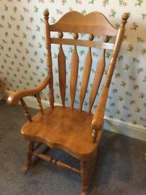 Vintage Large Wooden Rocking Chair